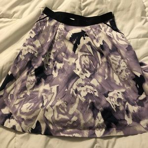 Ellen Tracy high waisted floral skirt